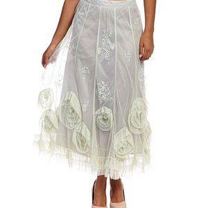 Nataya Steampunk Rosettte Skirt DARK VIOLET XL NWT